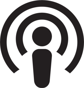 podcast logo black and white